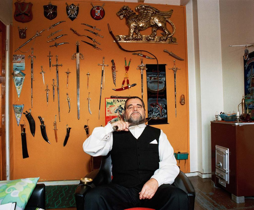Boris Sundelin in his living room.